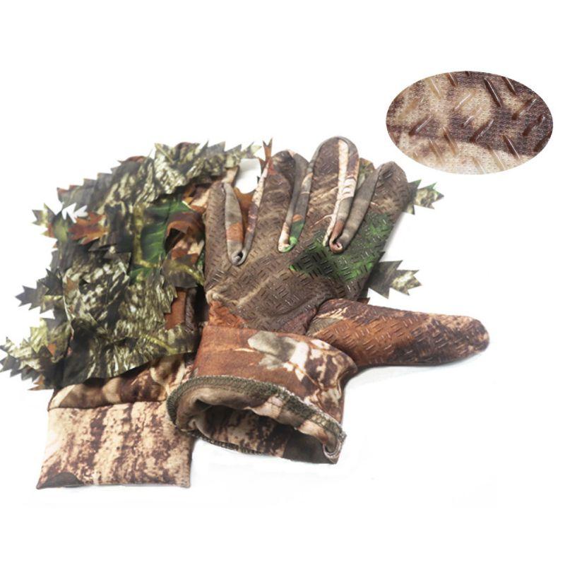 Мужские военные охотничьи перчатки, уличные 3D листья, камуфляжные, скрывающие лесные охотничьи перчатки