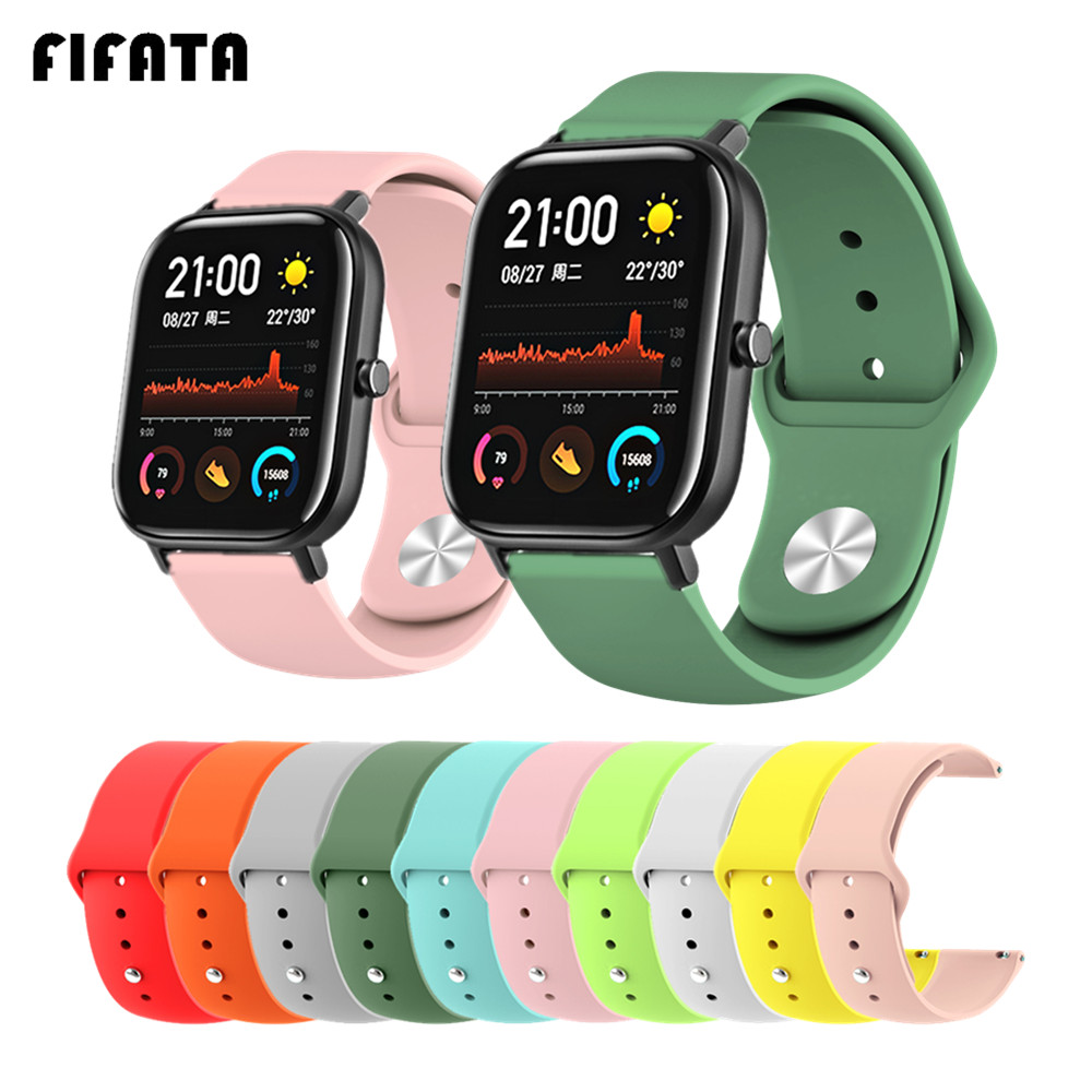 FIFATA For Xiaomi Amazfit Gts 20mm Sport Silicone Strap Smart Watch Band For Amazfit Gtr 47mm Bands 22mm Wrist Strap Accessories