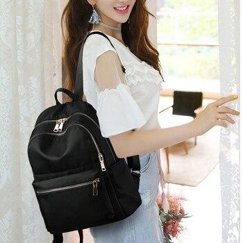 Teenage Girl Children Backpacks Travel Bag For nylon Backpack Women Fashion Shoulder solid color School
