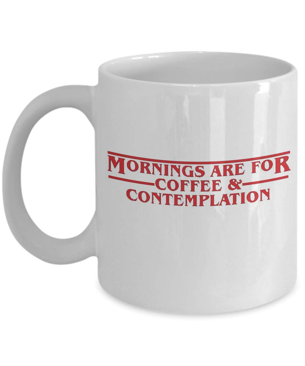 Us 398 Whitelf Chief Hopper Quote Mug Mornings For Coffee Contemplation Mugs Stranger Things Cup With Stirring Spoon In Mugs From Home Garden On