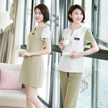 Cosmetologist's work clothes lady elastician plus-size technician foot bath club yuesao service pedicure service new suit