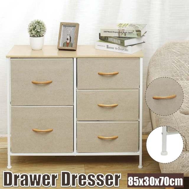 5 Drawers Fabric Dresser  1
