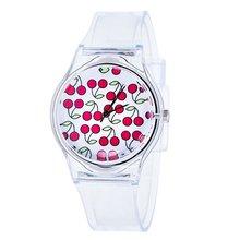 Прозрачные силиконовые Разноцветные часы с радужным циферблатом