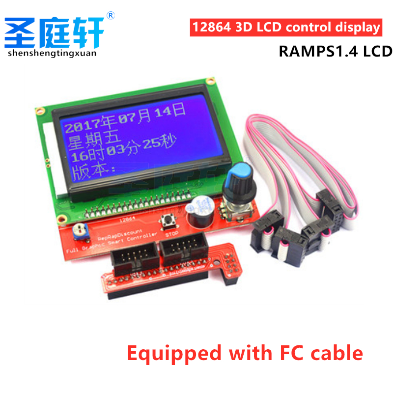 3D Printer Parts, 12864 LCD Control Panel, 12864lcd LCD Screen for 3D Printer, RAMPS1.4 Smart Controller