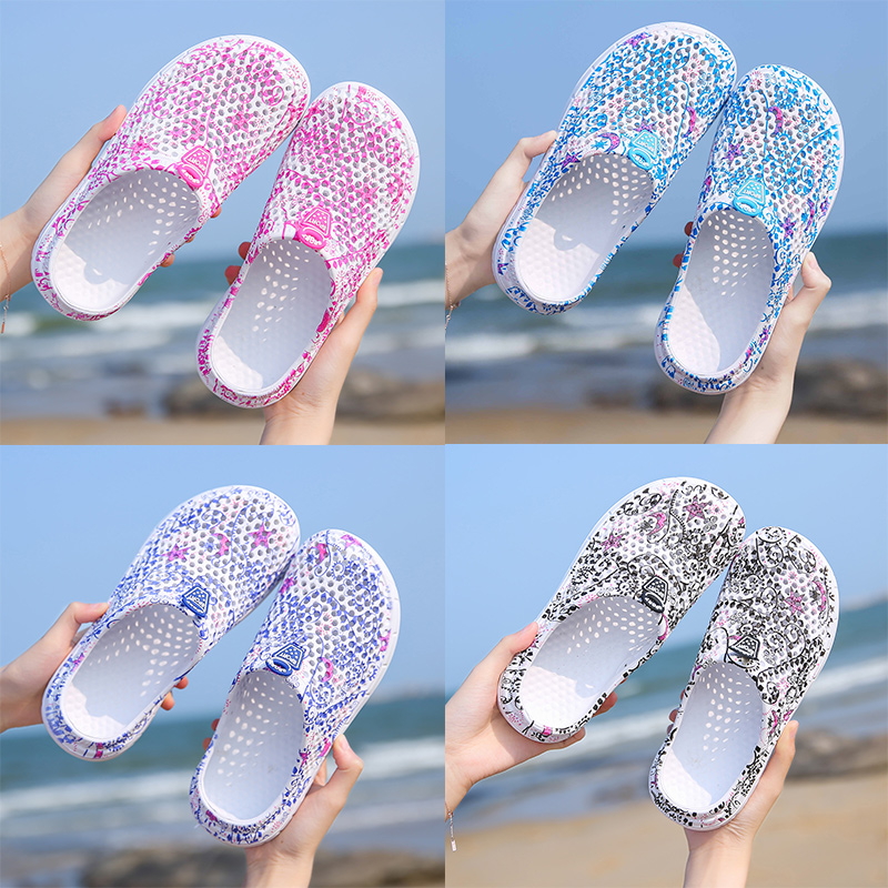 Summer Women's Beach Sandals Wading Clogs Water Shoes Breathable Home Anti-Slip Slippers