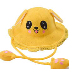 Girl's Hat with Ears Cartoon Sunbonnet Cute Air Bag Fisherman Hat Burr Brim Boy's Hat мужская бейсболка gwcaps oem chunglim sunbonnet baseball hat