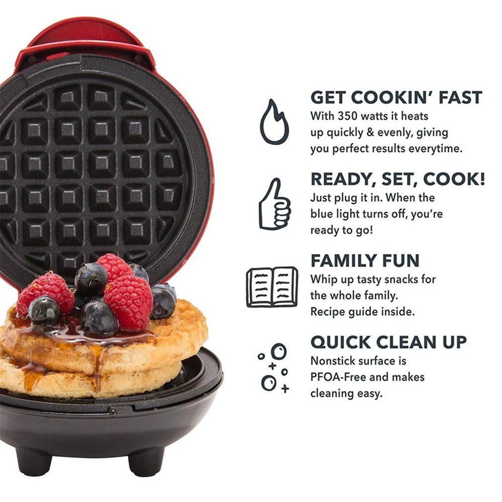 Electric Mini Waffle Machine EU/US/UK Automatic Nut Waffle Bread Machine Multifunction Home Children'S Bake Diy Cake Baking