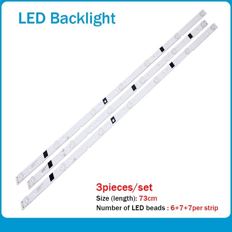 New 100%73cm LED Backlight Strip Lamp For LED39C310A JS-D-JP3910-071EC JS-D-JP3910-061EC E39DU1000 MCPCB