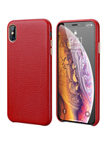 Real Genuine Cowhide Litchi Leather Case for iPhone X XS Max 7 7Plus 8 8Plus 5 Phone Case Luxury Fashtion Ultra Thin Cover