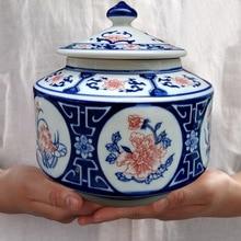Ceramic Tea Cans Large 0.5 kg Moisture-proof Sealed Black Green Puer