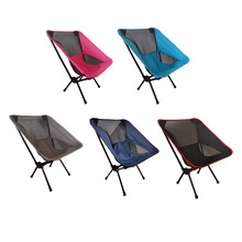 Outdoor-Furniture Folding Camping-Chair Portable Backrest Beach with Side-Bag Ultralight