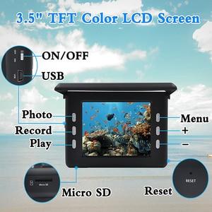 Image 2 - Fisch Finder Unterwasser Angeln Kamera 3,5 Inch Bildschirm 15M Kabel 8PCS Infrarot Lampe Video Kamera Aufnehmen Für Angeln