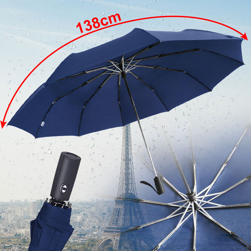 125CM <font><b>Windproof</b></font> Automatic <font><b>Umbrella</b></font> Men 3Folding Large <font><b>Umbrella</b></font> Rain Woman Double <font><b>Golf</b></font> Business Automatic Car <font><b>Umbrellas</b></font> Paraguas image