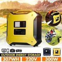 300W 220V 307Wh bluetooth Inverter Outdoor Solar Storage Generator UPS AC DC Power Supply Dual USB Energy Storage System 3000mAh