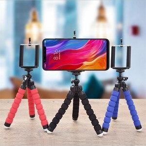 Гибкий губчатый мини штатив-Трипод стойка для iPhone Xiaomi Samsung гибкие Мобильный телефон Смартфон штатив монопод для Gopro фотокамеры мгновенного ...