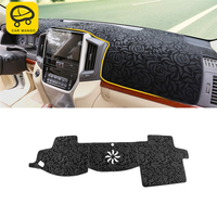 CARMANGO Car Styling Dashboard Cover Sunshade Mat Pad Cushion Cover Interior Accessories for Toyota Land Cruiser 200 2016-2018