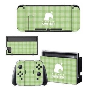 Image 2 - Hayvan geçişi ekran koruyucu Sticker cilt Nintendo anahtarı NS konsolu için şarj ünitesi standı tutucu Joycon kumanda muhafazası