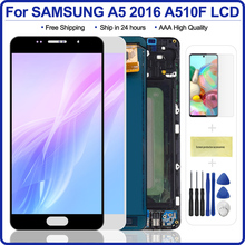 5.2 lcd lcd lcd para samsung a5 2016 display lcd a510 a510f a510m SM A510F digitador da tela de toque lcd para samsung a5 a510 preto/branco