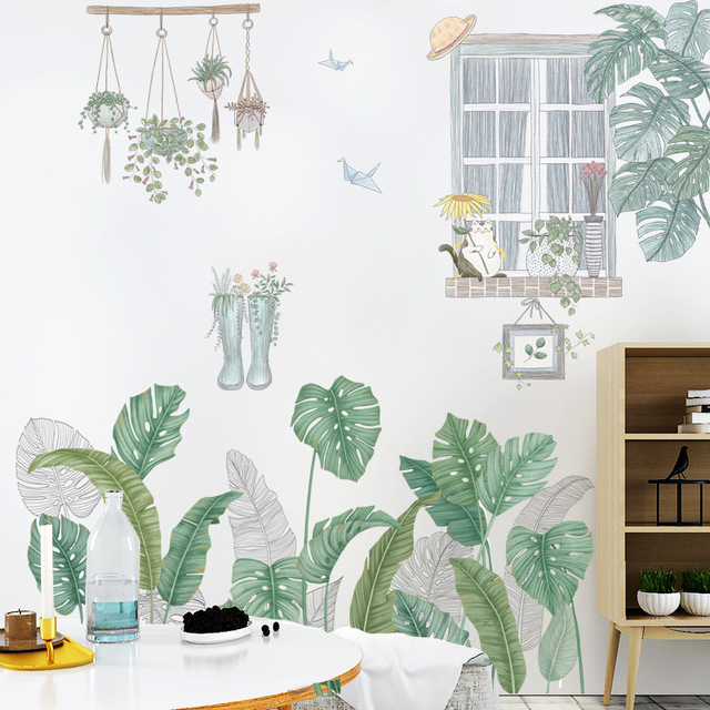 24 Style Green Leaf Wall Stickers 4