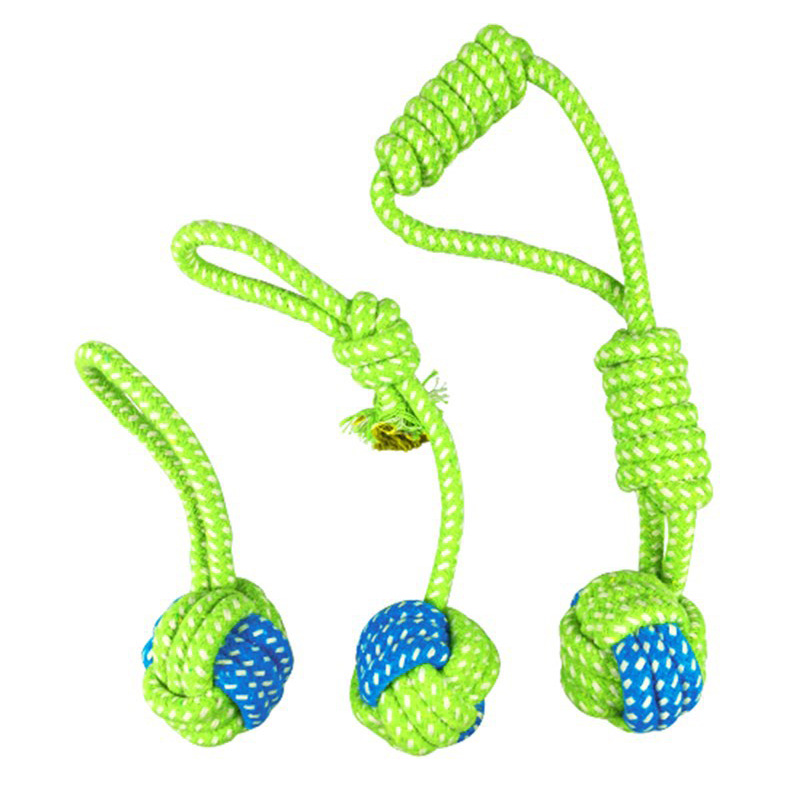 Cotton Dog Rope Toy Knot Puppy Chew Teething Toys Pet Playing Ball for Large Medium Small