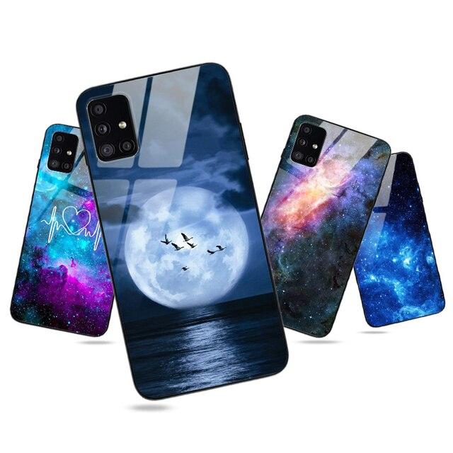 Lune Brillant Étui de Téléphone POUR Samsung Galaxy A10 A20 A30 A40 A50 A70 A51 A71 A01 A21 A31 A41 A10S A20S A30S A50S A20E A21S Couverture