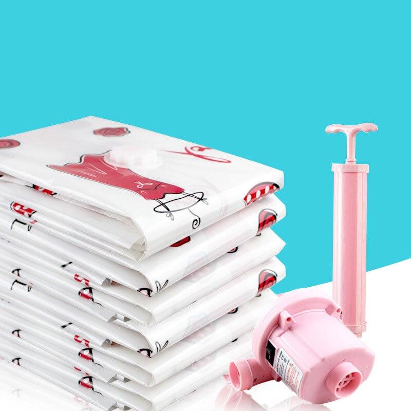 Вакуумный мешок для хранения, Домашний Органайзер, пыленепроницаемый мультяшный складной органайзер для одежды, сжатый для экономии места в путешествии, сумки, посылка