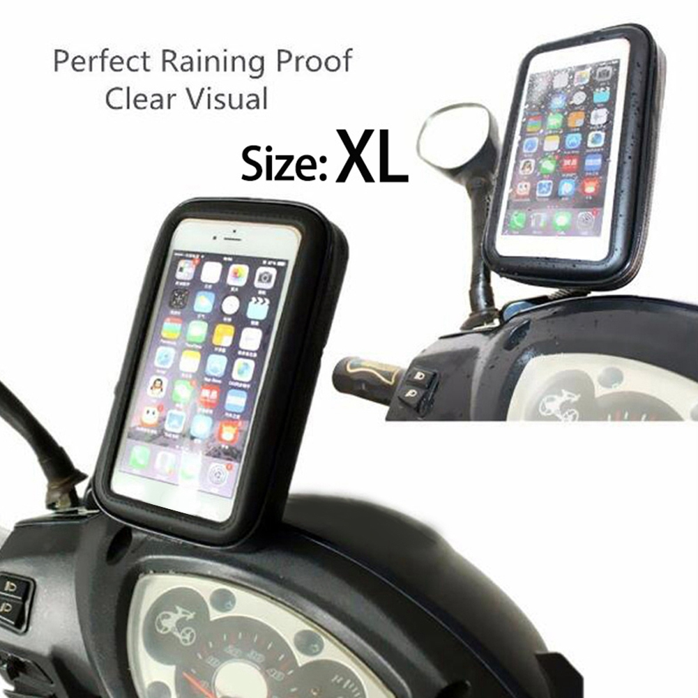 Car Motorcycle GPS Navigation Holder Waterproof Case with Mount Holder 360 Degree Rotary Design For Mobile Phone