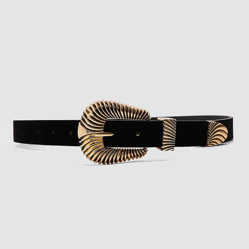 He3fdced74f0b415abd5c0c043b0a4fd9K - Girlgo Newest Vintage Velvet Buckle Belt for Women Punk Metal Gold Color Belly Chain Accessories Jewelry Party Gifts Bijoux