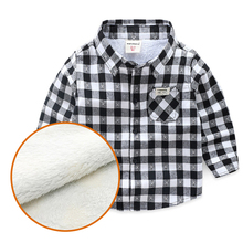 Clothing Shirt Long-Sleeves Baby Kids Cotton Children Warm Winter Fall Thick Outfit Outwear