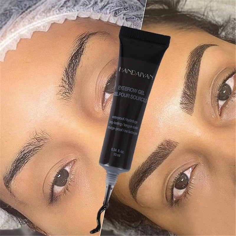 Natural 6 Colors Liquid Dyeing Eyebrow Cream Set Waterproof Durable Brown Tint Eyebrow Henna Mascara Eyebrows Paint Makeup