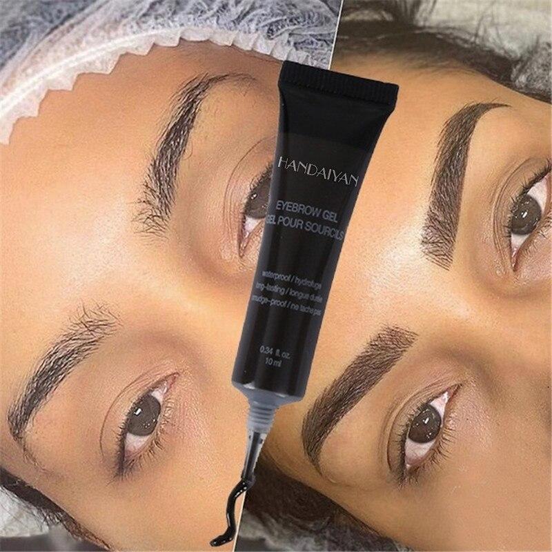 Set de crema de cejas de teñido líquido Natural de 6 colores resistente al agua tinte marrón de cejas Henna Mascara cejas pintura maquillaje|Potenciadores de cejas|   - AliExpress