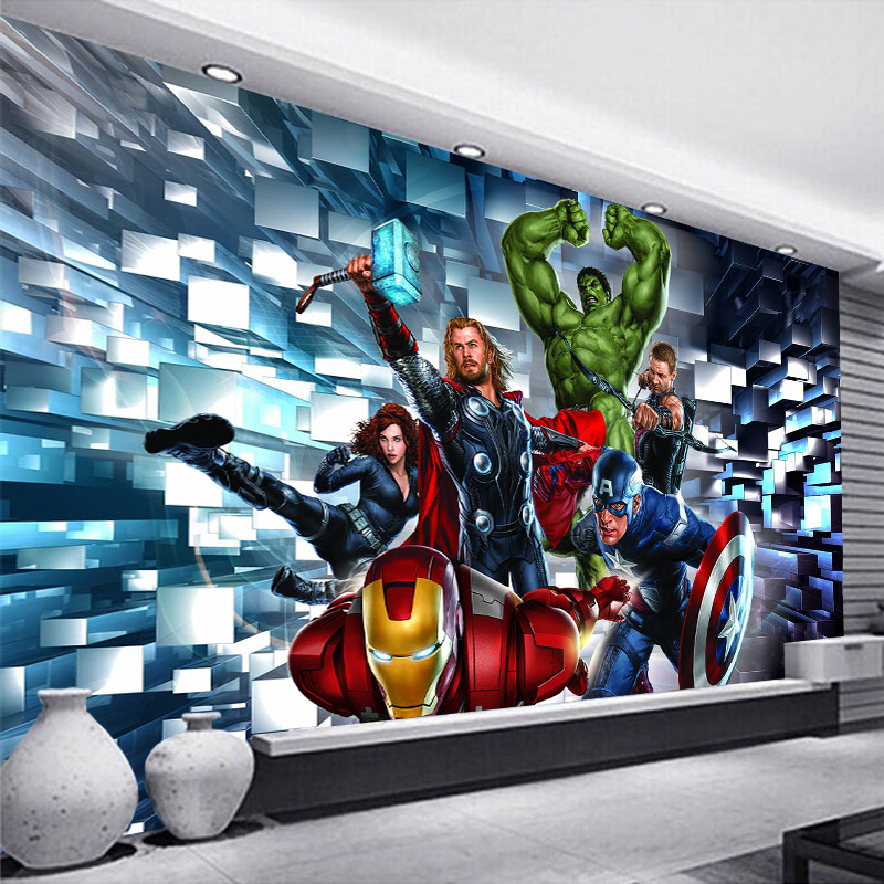 Murales de pared personalizados en 3D, papel tapiz para niños, habitación, decoración del dormitorio, póster de película, Café Bar, pintura de pared decorativa de lona impermeable