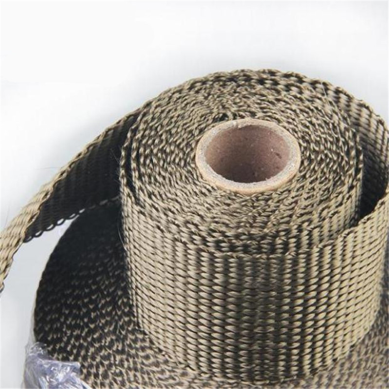 Tape Roll With Stainless Ties Kit  1PC 5.08cm X 1.59 Mm X 5m Titanium Exhaust/Header Heat Wrap Downpipe Insulation Bandage