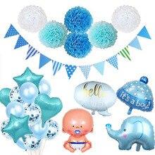 Baby Shower niño niña decoraciones conjunto es un niño es una niña bebé globos género Reveal Kids cumpleaños fiesta regalos suministros