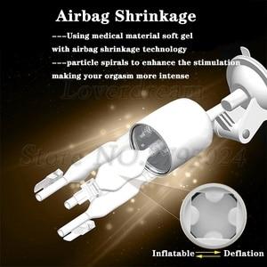 Image 4 - Automatic 55mm Telescopic Vagina Oral Pussy Male Masturbator Electric Airbag Piston Clamping Sucking Vibrator Sex Toys For Men