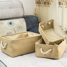 Practical Durable Household Storage Basket Foldable Clothes With Double Handle Toy Sundries Box
