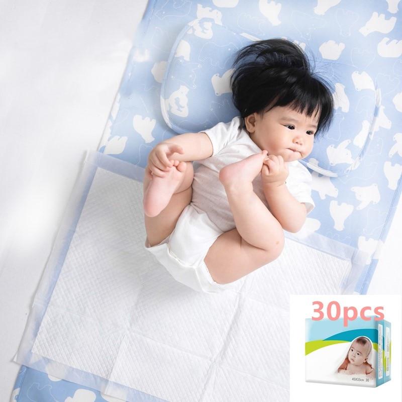 30pcs/bag Disposable Baby Diaper Changing Mat for Adult Children or Pets Waterproof Newborn Changing Pads Diaper Mattress