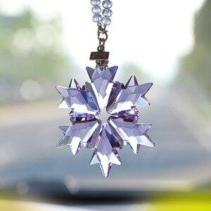 Image 4 - Acessórios carro pendurado cristal transparente decoração do carro acessórios do carro ornamento do natal para meninas