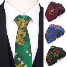 New classic suits ties jacquard floral mens neck tie for wedding