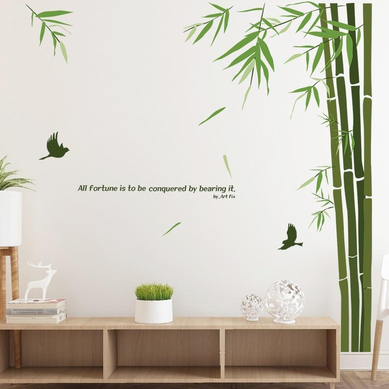 Съемный панд бамбуковая стена для украшения дома наклейки DIY домашний Декор Гостиная Спальня виниловые постеры в китайском стиле наклейки
