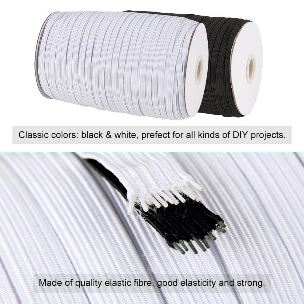 Elástico plano 4mm o 6mm en Blanco