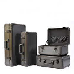 Aluminium legierung toolbox Auswirkungen widerstand sicherheit box instrument fall koffer fisch stange modell fall Mit stoßfest schwamm