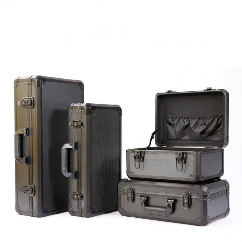 Ящик для инструментов из алюминиевого сплава, противоударный защитный ящик, чехол для инструмента, чехол, чехол для модели рыбного удочки, ч...