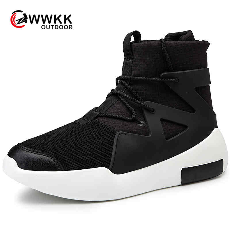 WWKK Brand Running Shoes For Men Mesh Breathable Spring Men Outdoor Sports Shoes Fly Weave Comfortable Fitness Men Sneakers