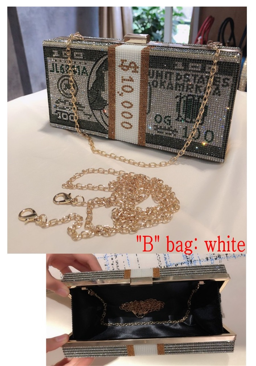 Party Purse Bags Money-Usd Crystal Dollar-Design Diamond Wedding-Dinner Luxury And New