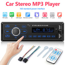 1DIN Auto Radio Lettore MP3 Led Bluetooth 5.1 Car Ricevitore Multimediale Dual Usb di Sostegno Aux Tf U Dischi in Dash radio Fm(China)