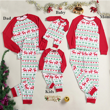 Autumn and winter long sleeves New parent-child suit Christmas hat print parent-child family Christmas fawn print Home Set худи print bar christmas winter