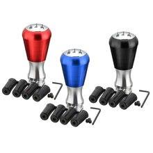 5 botão manual da vara do deslocamento de engrenagem da liga alumínio da velocidade para peugeot 405 307 206 3 cores