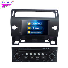 Car Radio Android 9.0 Multimedia Player For Citroen C4 Stereo 2Din GPS Navigation Quad Core 2G+16G Car Head Unit With Bluetooth(China)