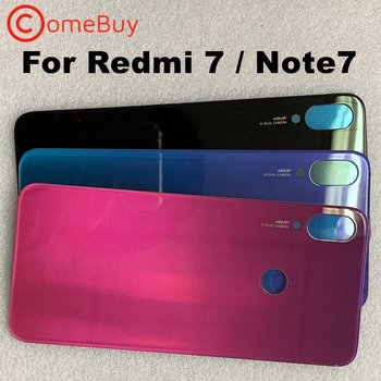 Back Glass For Xiaomi Redmi Note7 Battery Cover For Redmi 7 Rear Window Door Housing Case For Xiaomi Redmi Note 7 Pro Back Cover joliwow for xiaomi redmi 5 battery back cover rear housing metal door camera glass lens repair spare parts